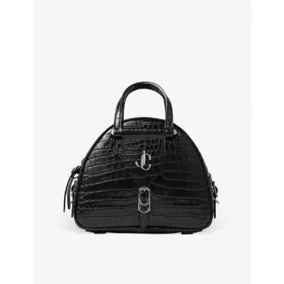 ジミー チュウ JIMMY CHOO レディース ハンドバッグ ボーリングバッグ バッグ Varenne crocodile-embossed leather bowling bag BLACK