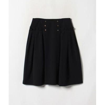 【ランバンコレクション】 グログランリボンスカート レディース ブラック 38 LANVIN COLLECTION