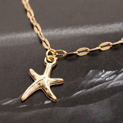 Catery Boho Anklet Chain Starfish Ankle Bracelet Beach Fashion Foot Je