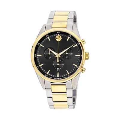 Movado Stratus Quartz Movement Black Dial Men's Watches 0607249 並行輸入品
