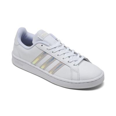 アディダス スニーカー シューズ レディース Women's Grand Court Casual Sneakers from Finish Line Footwear White, Aluminum