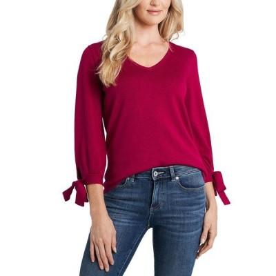 セセ ニット&セーター アウター レディース Tie-Sleeve V-Neck Sweater Plumeria