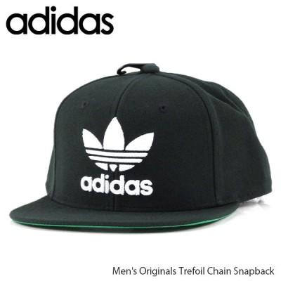 adidas アディダス オリジナル トレフォイル チェーンスナップバック キャップ 帽子 S48638 Black/White