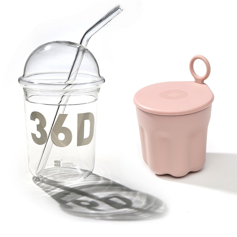【超值組合1+1】HoloHolo BOBA玻霸杯 大款360ml (送玻璃吸管) + 迷你果凍保溫杯