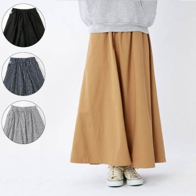 CHUMS チャムス Day to Day Long Skirt デイトゥデイロングスカート レディース 2021年春夏 ボトムス スカート ウエストゴム CH18-1165