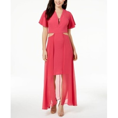 XOXO キスハグ ファッション ドレス XOXO NEW Sorbet Pink Womens Size Large L Cut Out High-Low Maxi Dress