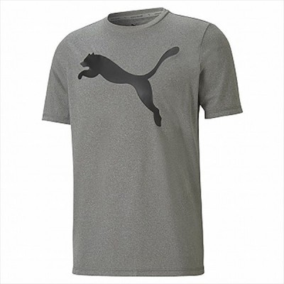 [PUMA]プーマ ACTIVE ビッグロゴ Tシャツ (588860)(09) グレー バイオレット[取寄商品]