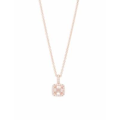 ラフォン レディース ジュエリー Crystal &amp Sterling Silver Square Pendant Necklace