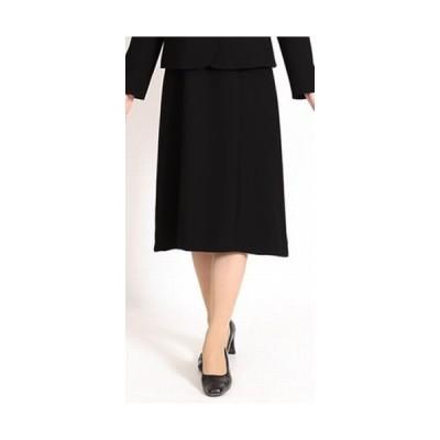 フォーマルスカート ブラック スカート 65cm丈 冠婚葬祭 入園 入学 卒業式 喪服 葬儀 葬式 法事 仕事制服(送料無料)