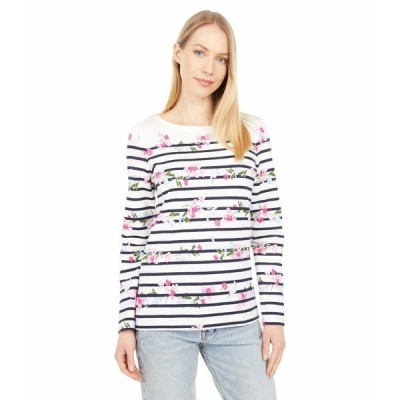 ジュールズ シャツ トップス レディース Long Sleeve Jersey Top Cream Floral Stripe