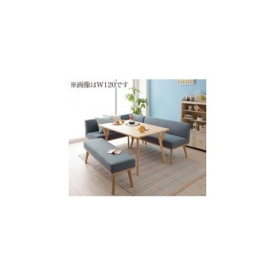 ソファ ソファー 北欧デザインリビングダイニングセット 4点セット テーブル+ソファ1脚+アームソファ1脚+ベンチ1脚 左アーム W140 5000277817