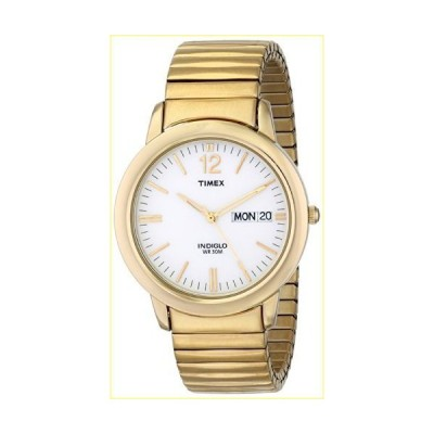 Timex Men's T21942 Chambers Street Gold-Tone Stainless Steel Expansion Band Watch【並行輸入品】