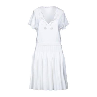 VERSACE COLLECTION ミニワンピース&ドレス ホワイト 46 レーヨン 71% / ポリエステル 29% ミニワンピース&ドレス