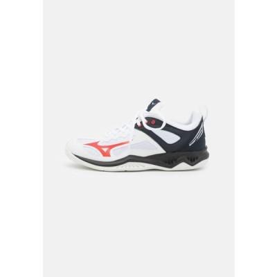 ミズノ メンズ スポーツ用品 GHOST SHADOW - Handball shoes - white/ignition red/salute