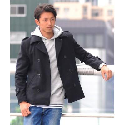 (SPADE/スペイド)Pコート メンズ ピーコート 長袖 コート メルトン ウール Pコート きれいめ ショート丈 人気 学生 スクール アウター 上品 きれいめ アウター トラッド/メンズ ブラック