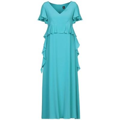 1-ONE ロングワンピース&ドレス ターコイズブルー 40 アセテート 75% / シルク 25% ロングワンピース&ドレス