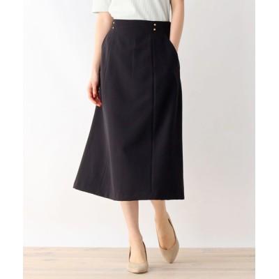 OPAQUE.CLIP / ウエストドットディテールストレッチフレアスカート【WEB限定サイズ】 WOMEN スカート > スカート