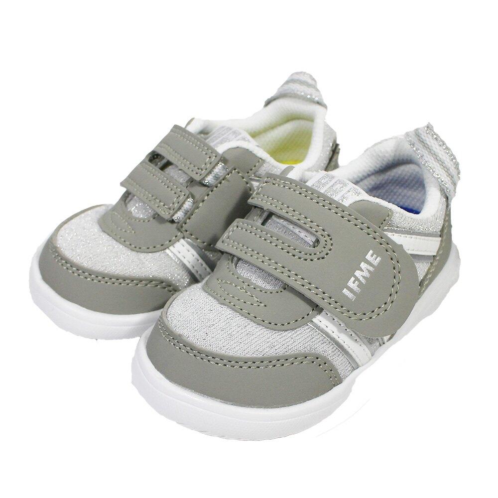 IFME IF22-010202 灰 童鞋 LIGHT 機能運動鞋 學步鞋 超輕量 魔鬼氈