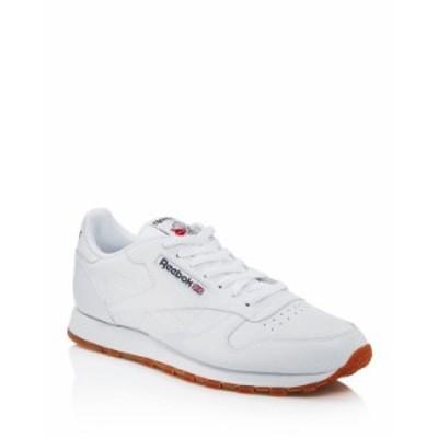 リーボック メンズ スニーカー シューズ Men's Classic Leather Lace Up Sneakers White/Tan