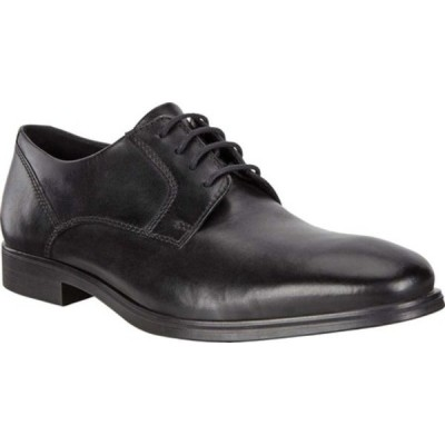 エコー ドレスシューズ シューズ メンズ Queenstown Plain Toe Tie Oxford (Men's) Black Full Grain Leather