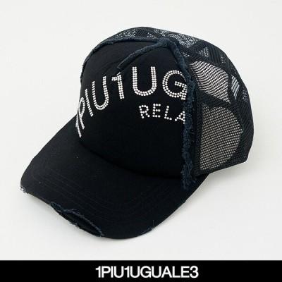 1PIU1UGUALE3 RELAX(ウノピゥウノウグァーレトレ) キャップ ブラック USZ21018