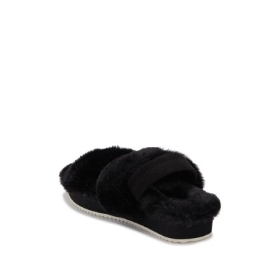 アボンド レディース サンダル シューズ Autumn Faux Fur Slipper BLACK