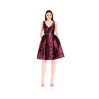 バッジェリーミシュカ ドレス Badgley Mischka レディース ドレス・ワンピース BMS2555 Combo プリント Party Cranberry