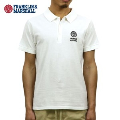 フランクリン マーシャル ポロシャツ 正規販売店 FRANKLIN&MARSHALL 半袖ポロシャツ  POLO SHIRT WHITE POMF468AN 0391 父の日 ギフト