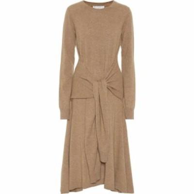 J.W.アンダーソン JW Anderson レディース ワンピース ワンピース・ドレス Merino wool midi dress Brown