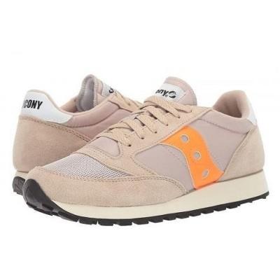 Saucony Originals サッカニー メンズ 男性用 シューズ 靴 スニーカー 運動靴 Jazz Original Vintage - Tan/Orange