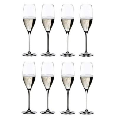 [正規品] RIEDEL リーデル シャンパン グラス 8個セット ヴィノム キュヴェ・プレスティージュ/ヴィンテージ・シャンパ...