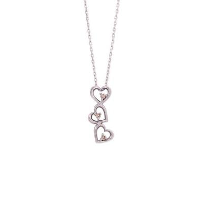 K10 ホワイトゴールド ダイヤモンド ハート ネックレス