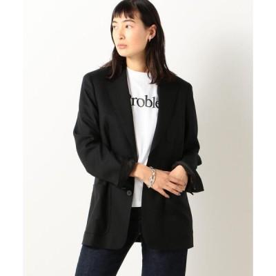 ジャケット テーラードジャケット 【WEB先行販売】Super120's WOOL TWILL ミニマムブレザー