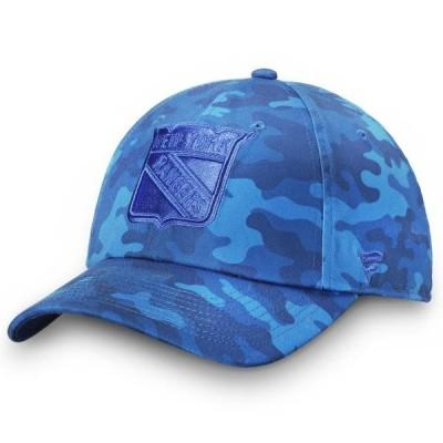 ユニセックス スポーツリーグ ホッケー New York Rangers Fanatics Branded Mute Camo Fundamental Adjustable Hat - Royal - OSFA 帽子