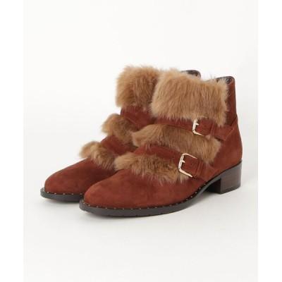 REGAL FOOT COMMUNITY / リーガル レディース/ファーダブルベルトショートブーツ WOMEN シューズ > ブーツ