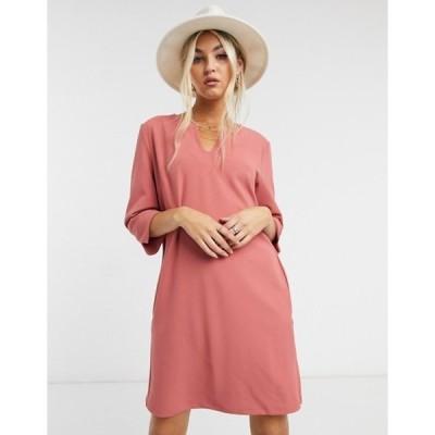 ヴィラ レディース ワンピース トップス Vila shift dress in pink