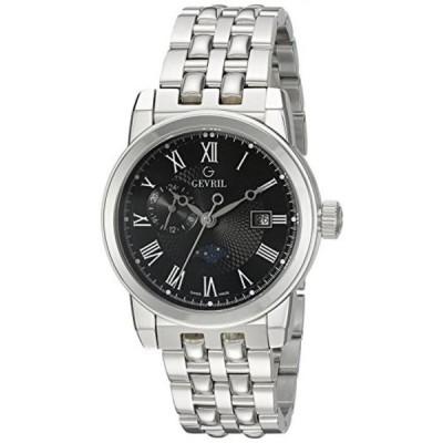 ジェビル 腕時計 メンズウォッチ Gevril Men's 2527 CORTLAND Analog Display Swiss Quartz Silver Watch