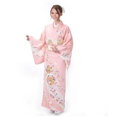 訪問着 正絹 仕立て上がり Osikiri Moe 着物 単品 ピンク 結婚式 入学式 入園式 卒業式 卒園式 袷 すぐに着られる 礼装 フォーマル 女性 レディース
