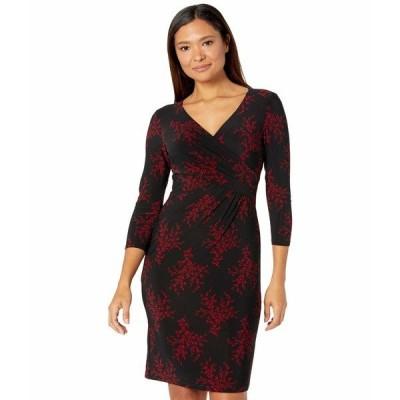 ラルフローレン ワンピース トップス レディース Cleora Floral Dress Black/Lakehouse Red