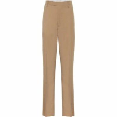 ボッテガ ヴェネタ Bottega Veneta レディース ボトムス・パンツ High-rise straight wool pants Camel