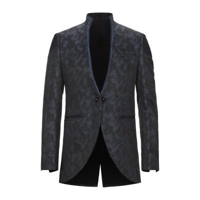 MAESTRAMI Cerimonia テーラードジャケット ブラック 48 ポリエステル 68% / レーヨン 23% / 金属化ポリエステル 9
