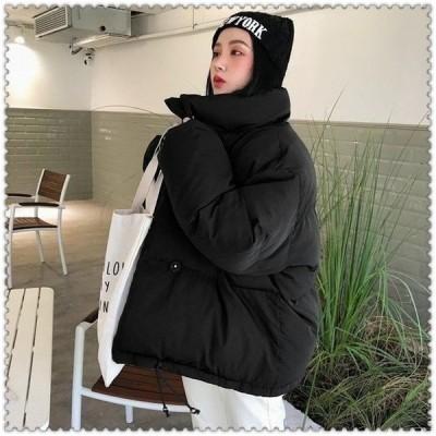 中綿ジャケットダウン風ジャケットアウターレディースショート丈冬服ゆったり体型カバー暖かい防風防寒可愛いシンプルカジュアル軽量