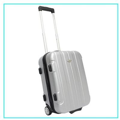 Traveler's Choice Rome Hardside Lightweight Upright Luggage, Gray, Checked-Medium 24-Inch