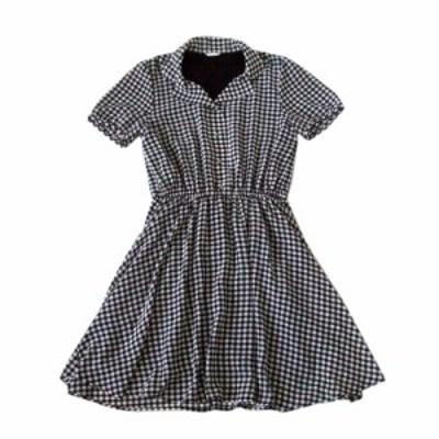 GLACIER  グレイシャー ギンガムチェックワンピース (黒 ドレス) 103198【中古】