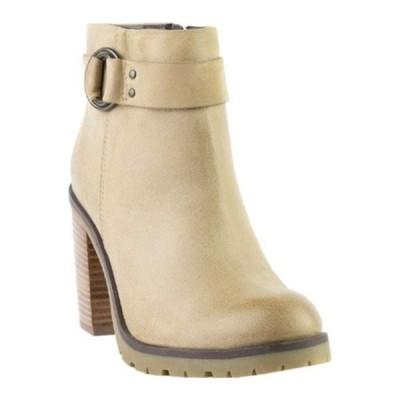 クレボ ブーツ&レインブーツ シューズ レディース Kathryn Heeled Ankle Bootie (Women's) Taupe Leather