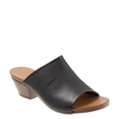 ブエノ レディース サンダル シューズ Simone Leather Block Heel Slide Sandals Black