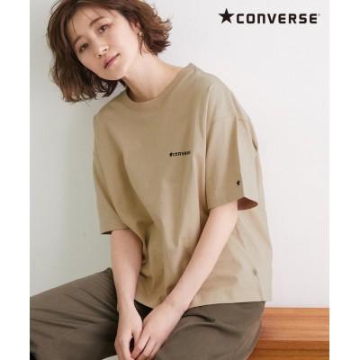(ROPE' PICNIC/ロペピクニック)【CONVERSE】ロゴシシュウTシャツ/レディース ベージュ(27)