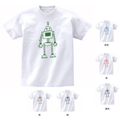 デザイン Tシャツ ロボット 白