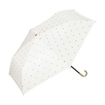 Wpc. ワールドパーティー 日傘 折りたたみ傘 白 50cm レディース 傘袋付き 遮光ゴールドプチハートミニ 801-3046 OF (雨具 折り畳み傘 完全遮光 おしゃれ)