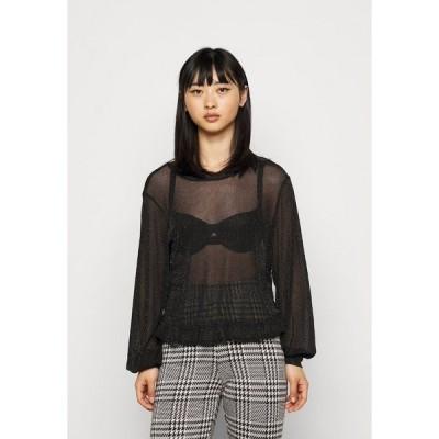 ピーシーズ プティ カットソー レディース トップス PCZUA - Long sleeved top - black